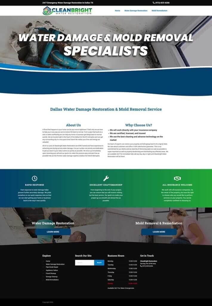 restoration website design