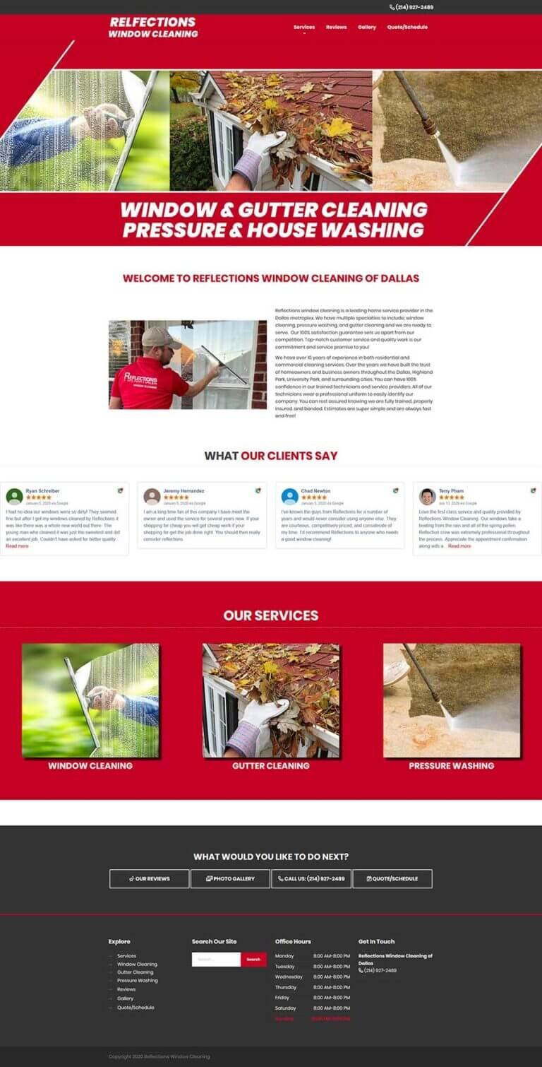 window cleaning websites