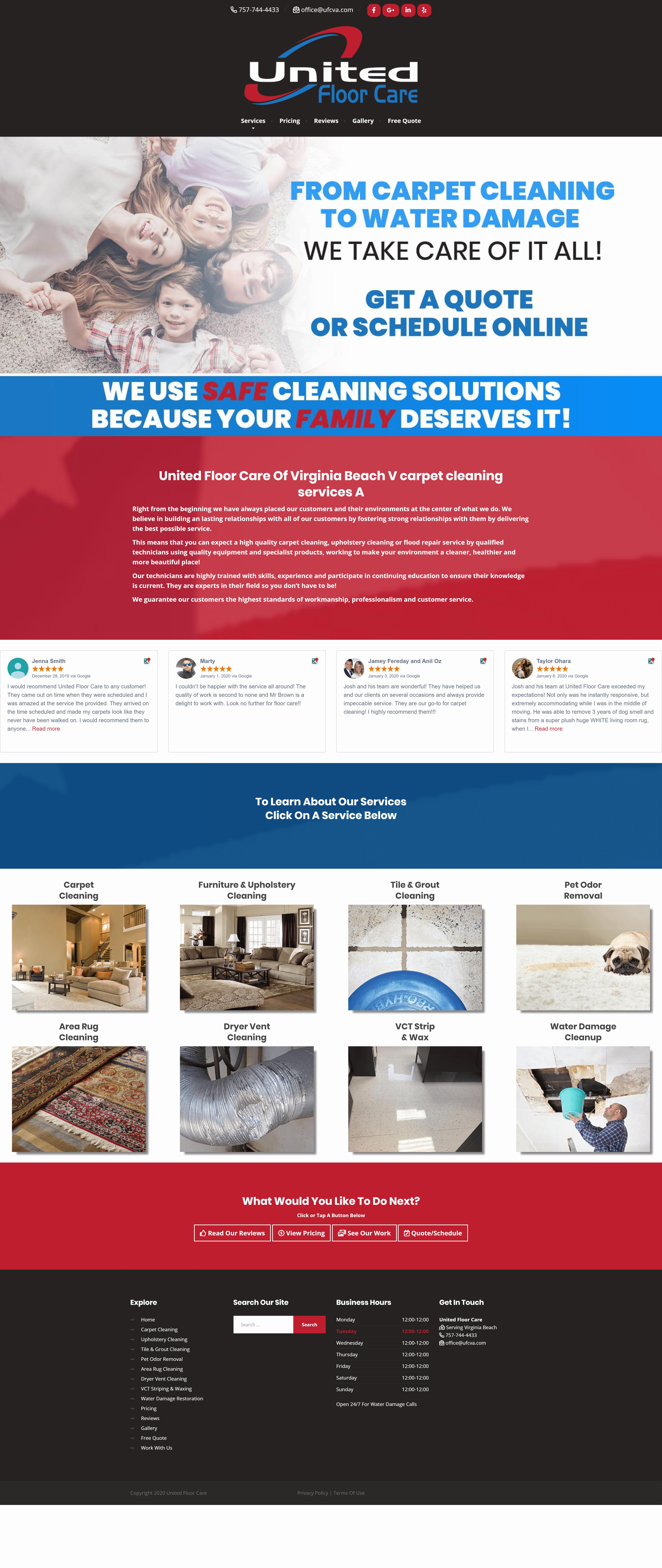 best carpet cleaner web design service
