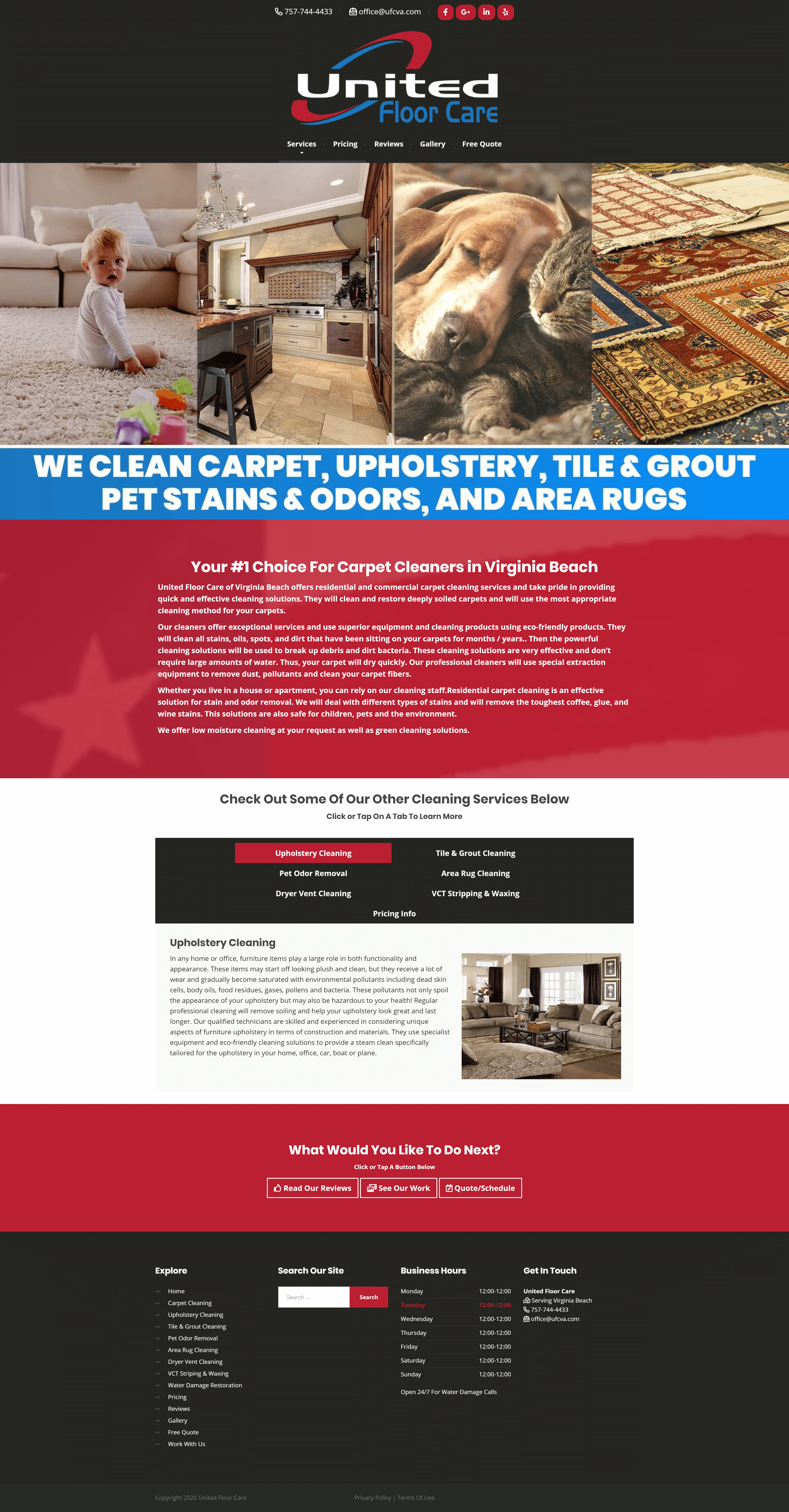 best carpet cleaning web design service